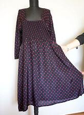 THE MASAI CLOTHING COMPANY Black/Purple Dotted Dress, Size:M