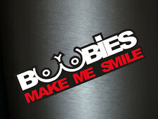 1 x adhesivo boobies make Me Smile boobs sticker Shocker auto pegatinas Tuning