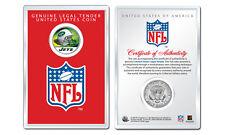 NEW YORK JETS NFL Helmet JFK Half Dollar U.S. Coin w/ Display Case LICENSED