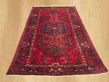 Authentic Hand Knotted Vintage Qashqai Wool Area Rug 7 x 4 Ft