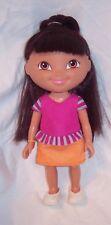 """NICE Dora the Explorer 2009 Viacom Mattel Vinyl Doll 9"""" Original Outfit ShoesGUC"""