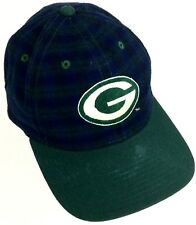 Vintage 90s Green Bay Packers 🏈American Needle Rare Plaid Strapback Hat/Cap VTG
