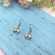 Cat Lady , Handmade Jewellery Cat Earrings Cat Lover Earrings