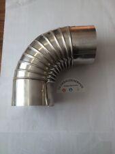 Abgas Aluminium Bogen Ø 110 mm x 90° Abgasbogen mit Prüföffnung aus Aluminium