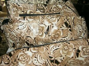 Miche Prima Shell Diaper Bag and Changing Pad Floral Patter Large Brown Beige