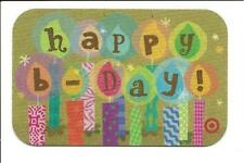 Target Happy Birthday Candles Gift Card No $ Value Collectible 2008
