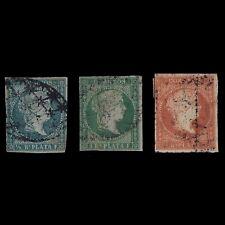 Sellos España.ANTILLAS. 1855 Isabel II. Edif.nº1 -3. Serie Usado.