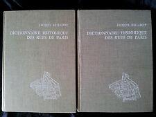 Dictionnaire historique des rues de Paris 1963 2/2 Histoire régionalisme TBE
