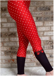 Red Polka Dots Bows- Tweenie- Charlie's Project Leggings CLOSEOUT FINAL SALE