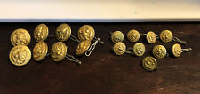 Lot of 17 Vintage Brass Buttons Eagle Design, Waterbury