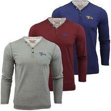 Y Neck Long Sleeve Singlepack T-Shirts for Men