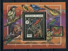GUINEA* 1990 *S/Sheet *GOLD* MNH** Scouting - Birds - Mi.No BL362