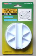 Paint Pallett 6 Wells Brush Rest Master Tools Trumpeter Model Accessory 9974