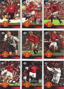 MANCHESTER UNITED  2001   WE ARE UNITED SHIRT CARDS :by UPPER DECK   CHOOSE