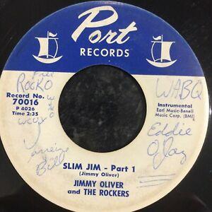 HEAR 1959 ROCK'N'ROLL/R&B SAX JIVERS - JIMMY OLIVER - SLIM JIM Pts 1 & 2  PORT