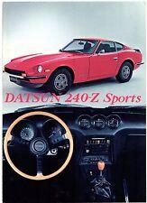 Datsun Nissan 240Z 1972 UK Market Foldout Sales Brochure