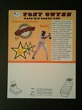 1990 Tony Gwynn  Pacific Candy Bar Padres Baseball Memorabilia Promo Sheet