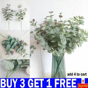 Artificial Fake Leaf Eucalyptus Green Plant Silk Flowers Nordic Home Decor-FY UK