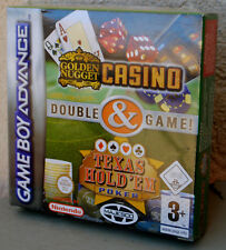 Jeu GOLDEN NUGGET CASINO, TEXAS HOLD'EM POKER sur Nintendo Game Boy Advance NEUF