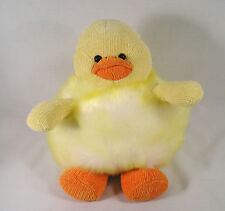 "9.5"" Easter Duck Stuffed Plush,Bean Filled Fat Belly Fluffy Yellow Duck by Ric H"