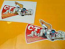 CT STROKERS  Vintage Retro Car Toolbox Hot Rod Stickers Decals 2 off 85mm