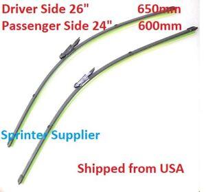 """Sprinter Windshield Wiper Blades PAIR [26"""" & 24""""] for Mercedes Dodge 2007 - 2017"""