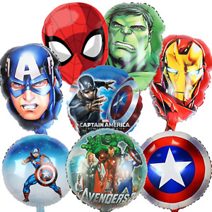 Avengers Hulk Captain Spiderman Birthday Party Balloons Party Foil Age Number