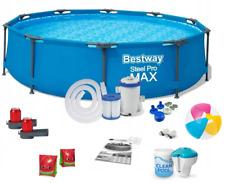 Bestway 56416 Steel Pro Max 366 x 76 cm Pool Set mit Filterpumpe und Getränkehaltern - Blau