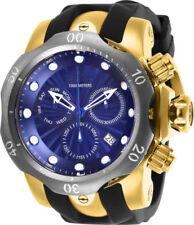 Invicta Men's 52mm Malice Venom Swiss Chronograph Blue Dial 18k GP SS Watch