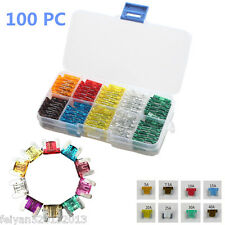 Lots of 100pcs Assorted Car standard Low Profile Fuse Box 5 7.5 10 15 20 25 30A