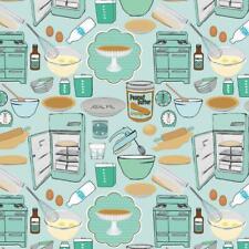 Organic Cotton Fabric, 'Making Peanut Butter Pie ' Haerae Design Studio Quilters