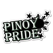 Pinoy Pride Filipino Sticker Flag Bumper Water Proof Vinyl #6769EN