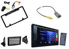 Pyle Touchscreen CD Radio, Metra Polaris Splash Guard, Backup Camera + Harness