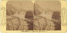Chillon Hotel Byron Lac de Genève Suisse Photo Stereo Vintage albumine ca 1880