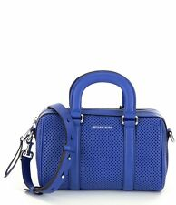 a9f94e2a6312e Michael Kors Libby Perforated Leather Small Satchel (Electric Blue)