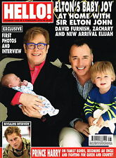 HELLO! Magazine 04/02/2013 ELTON JOHN'S BABY David Furnish PRINCE HARRY @NEW@
