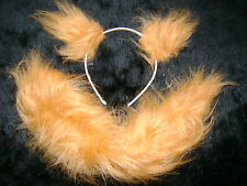 Persian Cat Ears And Tail Set Ginger Luxury Faux Fur Unique Fancy Dress Gorgeous