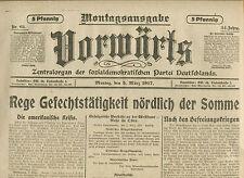 VORWÄRTS (5. März 1917): Rege Gefechtstätigkeit nördlich der Somme
