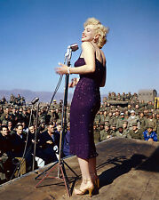 MARILYN MONROE 8X10 CELEBRITY PHOTO PICTURE PIC ENTERTAINING TROOPS