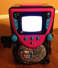 New listing Monster High Karaoke Machine System Disco Party Cdg 68148-Tru Screen Monitor