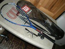 Wilson Ti Power Titanium Squash Racquet W/ Glasses / Balls & Case
