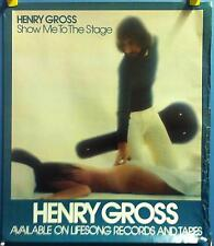 """Henry Gross - Show Me To The Stage 30""""x26"""" In Store 1977 Promo Poster"""