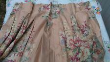 "Ralph Lauren Evelyn Peach 100% Cotton-Chintz One Custom Drape 52"" Long"