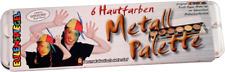 Eulenspiegel Metall-Paletten, Schminkpalette mit 6, 12, 24 Farben, Leer-Paletten