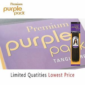 """Outre Premium Purple Pack 100% Human Hair Yaki 10"""" 12"""" 14"""" 16"""" 18"""" Limited Qty"""