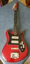 VINTAGE HARMONY ELECTRIC GUITAR RED PROJECT