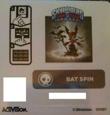 Bat Spin Batspin Skylanders Trap Team Sticker / Code Only!