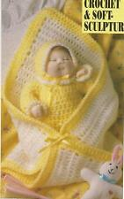 "Crochet Pattern ~ Outfit and Blanket for 14"" Long Doll ~ Instructions"