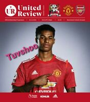 Manchester United v Arsenal PREMIER LEAGUE 1/11/20 Programme! READY TO POST!!!