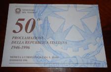 NL* ITALIA 10000 LIRE ARGENTO 1996 50° PROCLAMAZIONE REPUBBLICA FDC SET ZECCA